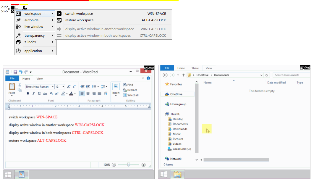 Mywe Virtual desktop