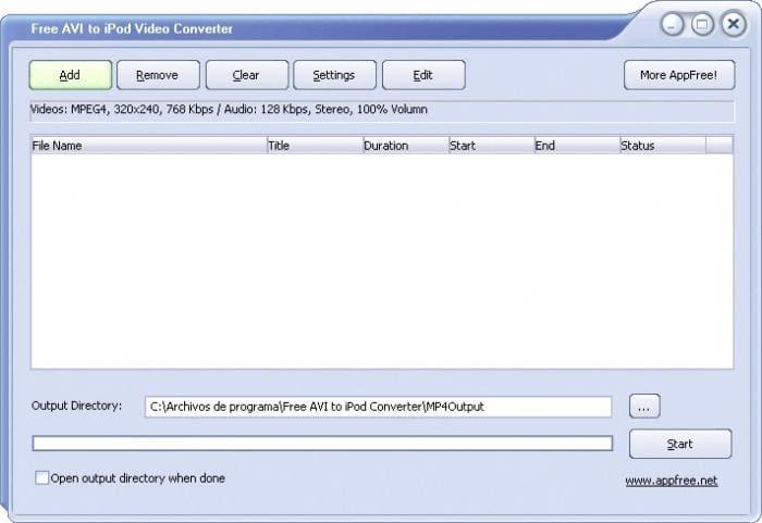 Free AVI to iPod Converter