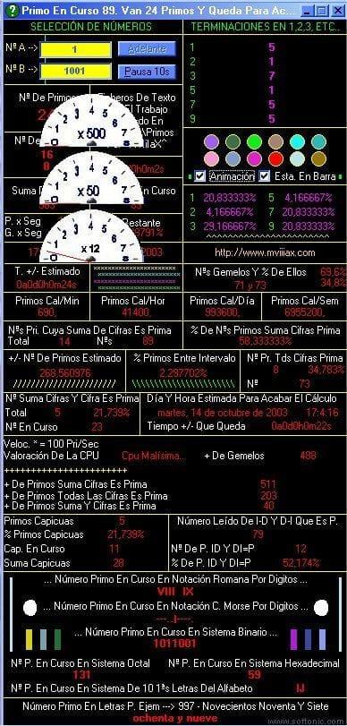 Generador de Numeros Primos