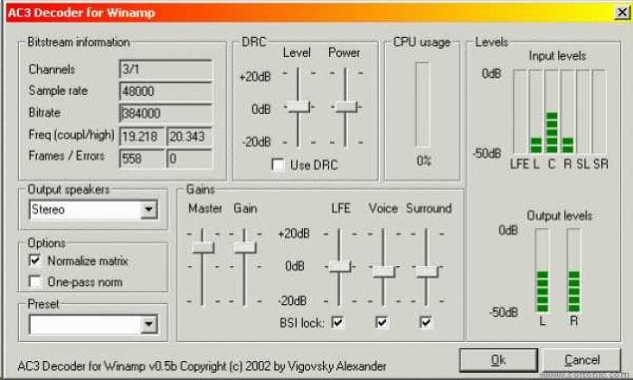 Valex's AC3 decoder for WinAmp