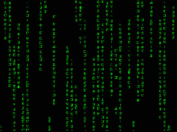 Animiertes Wallpaper Matrix Code