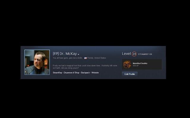 Steam Community SteamRep Integration