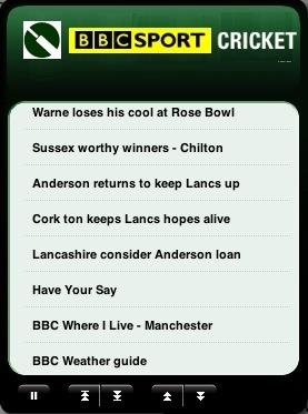BBC Cricket Widget