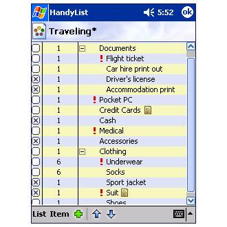 HandyList