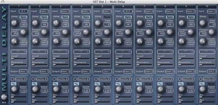 Multi Delay (plug-in AudioUnit)