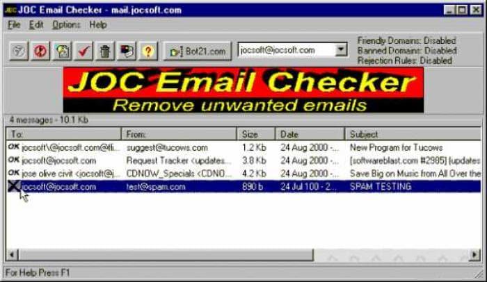 JOC Email Checker