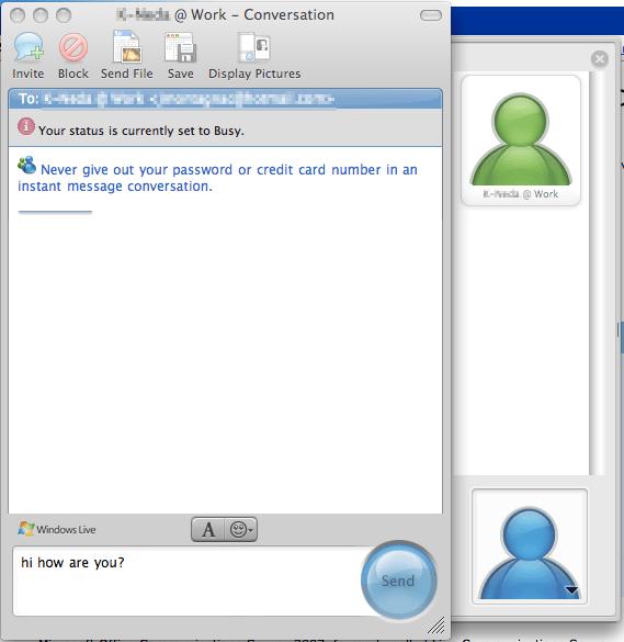 msn pour mac os x 10.4.11
