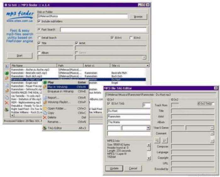 Sitex MP3-finder