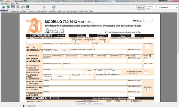 Software modello 730 2013