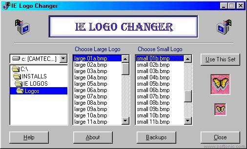 IE Logo Changer