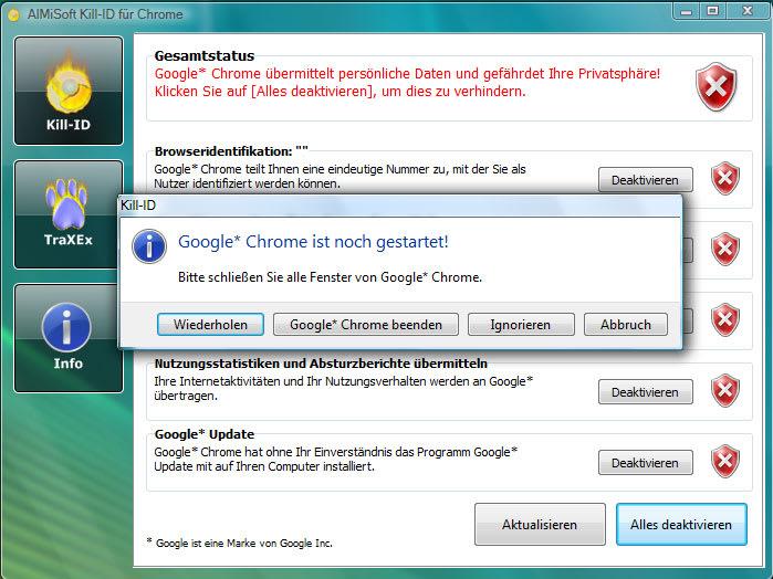 Kill-ID für Chrome