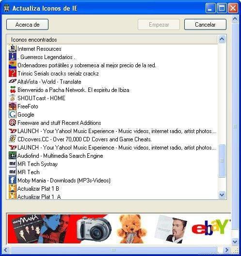 Actualiza Iconos de IE