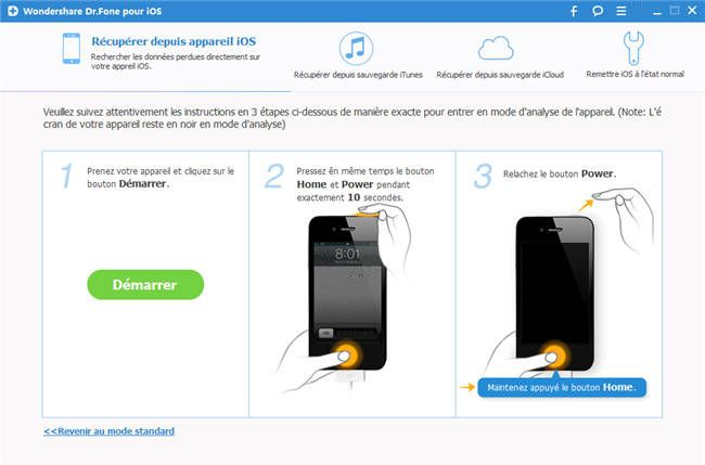 Wondershare Dr.Fone (Data Recovery for iPhone 4)