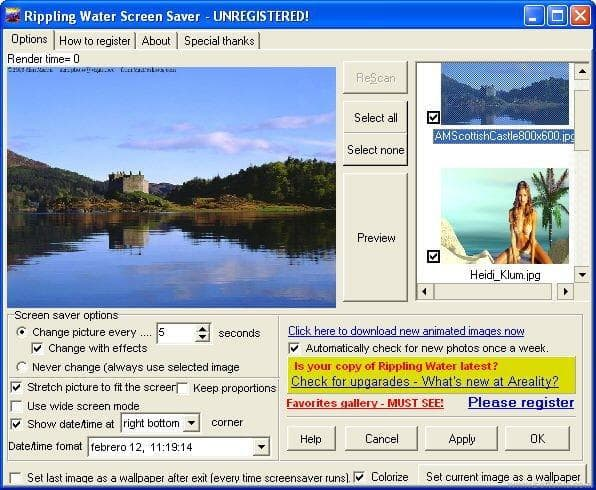 Ripplig Water Screen Saver
