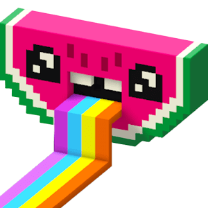Color by Number 3D Voxly Unicorn Pixel Art 1.5