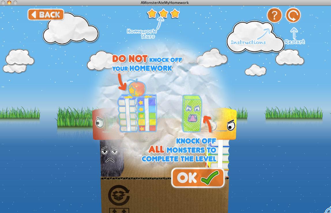 Monster Ate My Homework Google Play A Monster Ate My Homework App  Screenshot