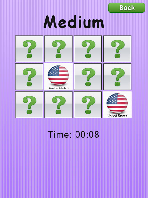 Memory Game - Flags