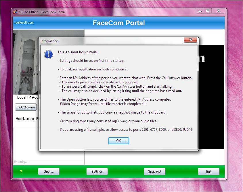 SSuite FaceCom Portal