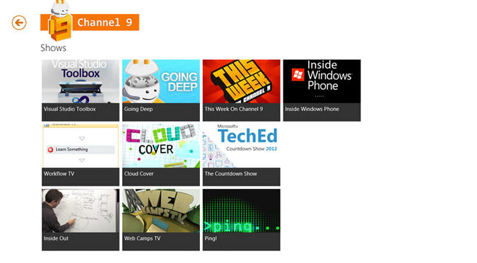 Channel 9 for Windows 10