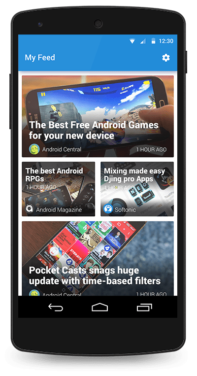 Trickler - Your daily Android Feed