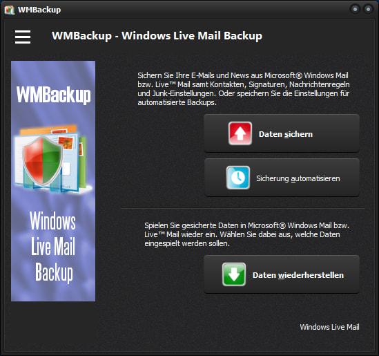 WMBackup - Windows Live Mail Backup