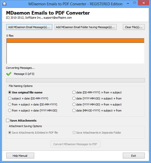 MDaemon to PDF Converter