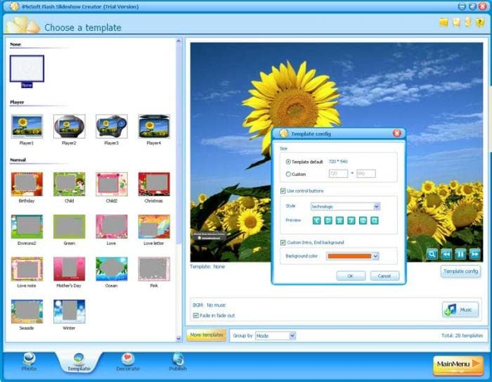 Flash Slideshow Creator