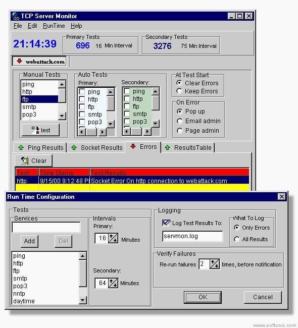 TCP Server Monitor