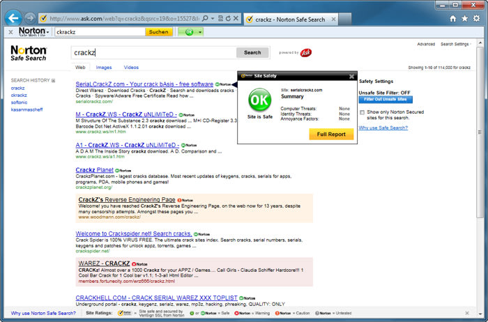 Norton Safe Web Lite