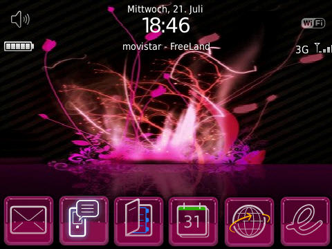 Pinkflurry Bold 9700 Theme