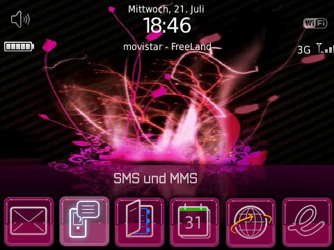 Pinkflurry Bold 9700 Theme