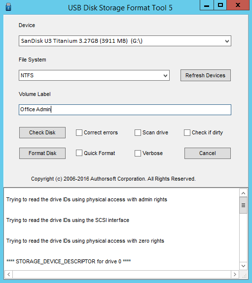 USB Disk Storage Format Tool