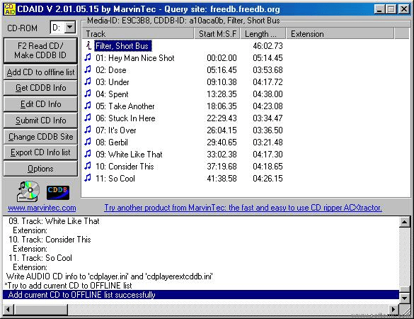 CD Audio Information Downloader (CDAID)