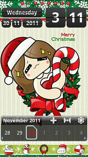 Happyxmas Theme GO Launcher EX