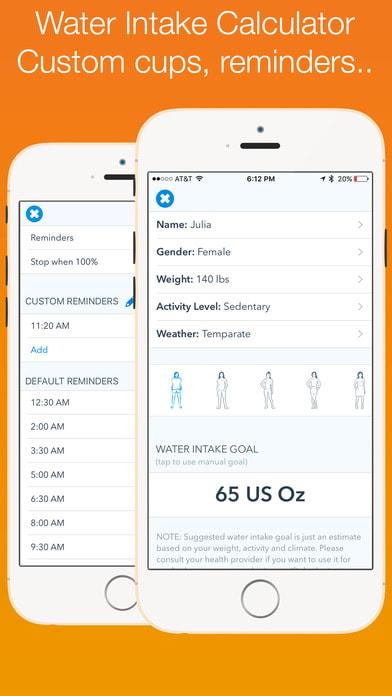 WaterMinder® - Water Hydration Reminder & Tracker
