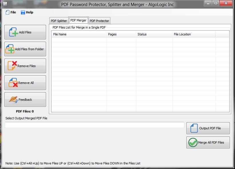 PDF Protecter Splitter and Merger