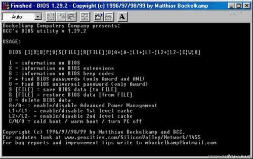 BIOS: Access BIOS settings easily