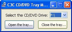 CD/DVD Tray Manager
