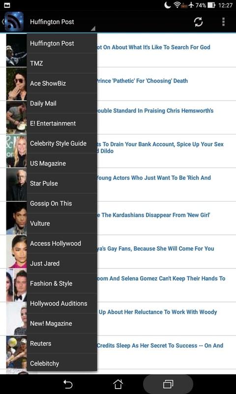 Celebrities RSS News