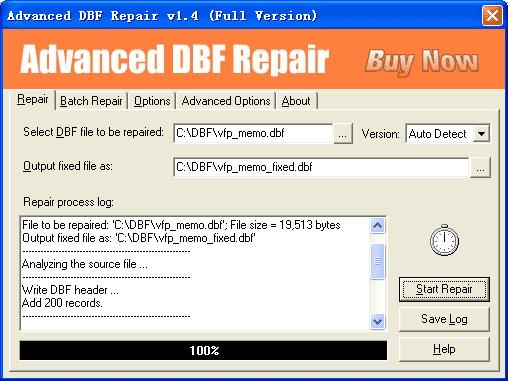 Advanced DBF Repair