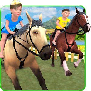 Kids Mountain Horse Rider Race