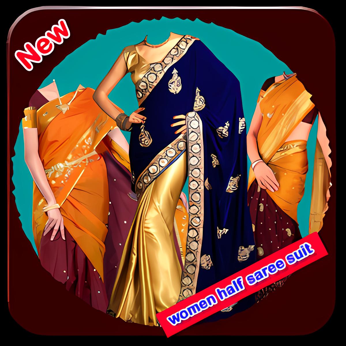 Women Half Saree Suit New