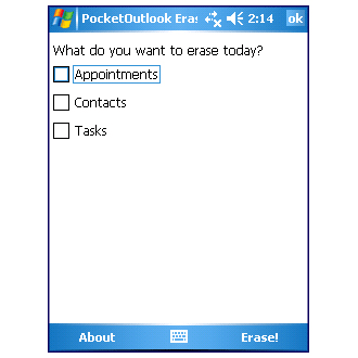 PocketOutlook Eraser