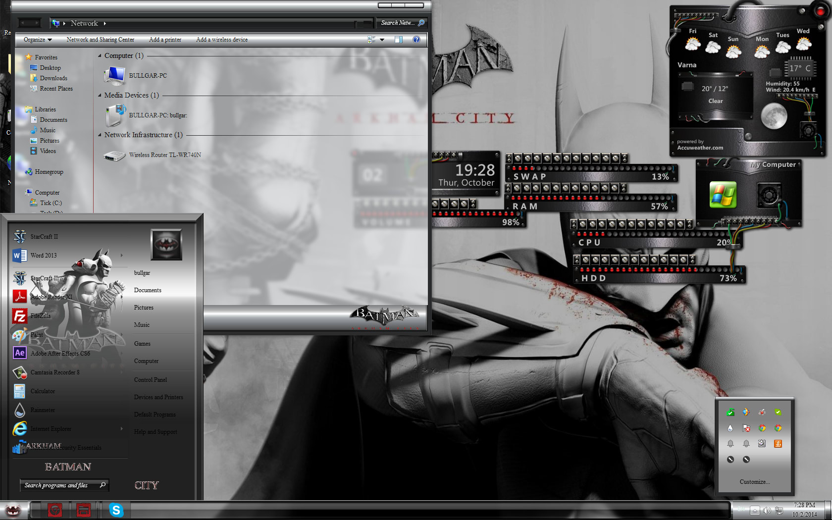 Batman Arkham Windows 7 Theme