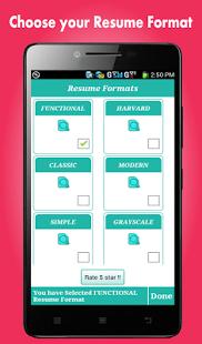 Smart Resume Builder / CV Free  Cv Resume Maker