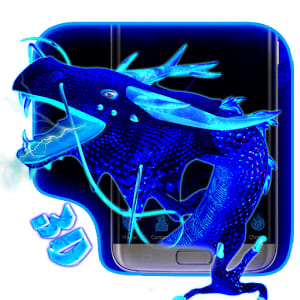 Neon Blue Dragon 3D 1.1.2
