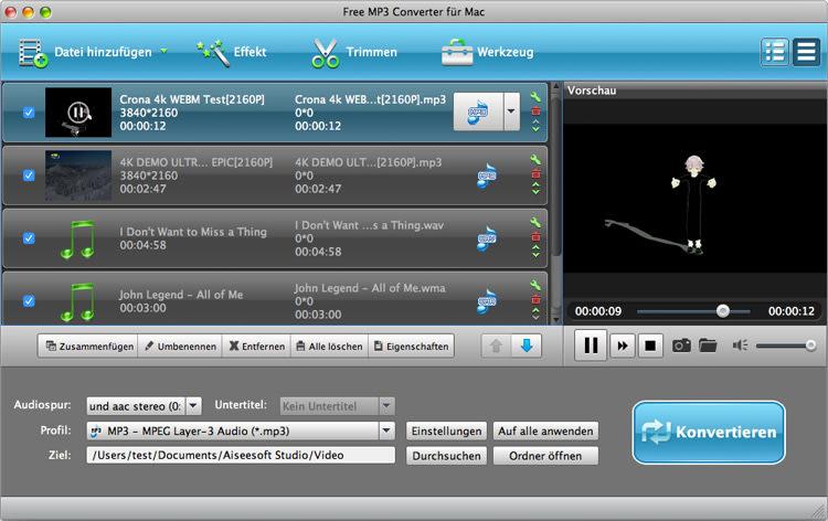 Free MP3 Converter für Mac