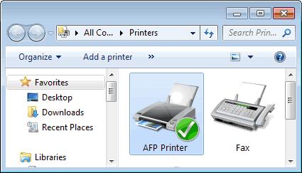 AFP Printer Driver for Windows