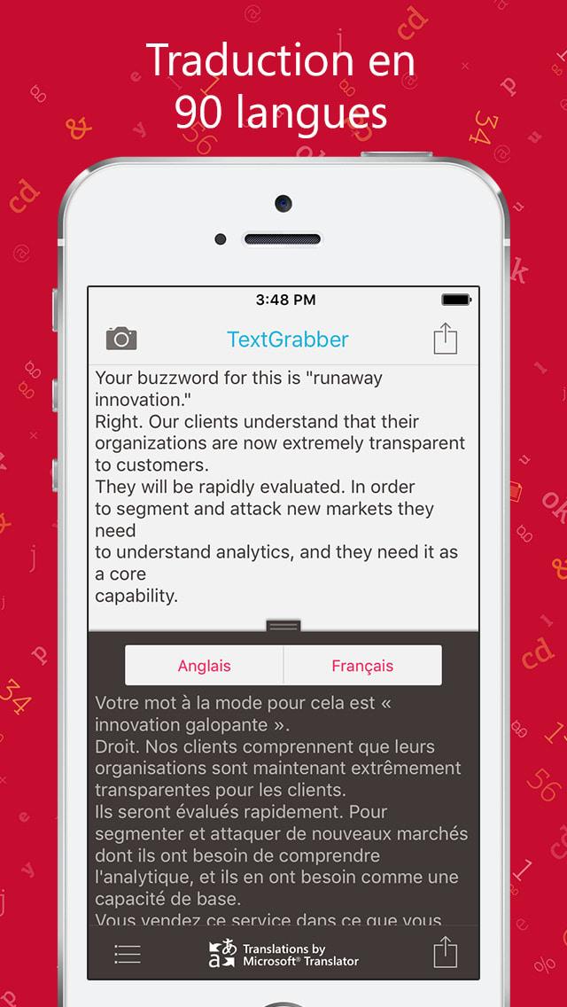 TextGrabber + Translator: OCR reconozca, traduzca y guarde su texto impreso de revistas, libros, documentos