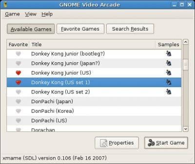 GNOME Video Arcade